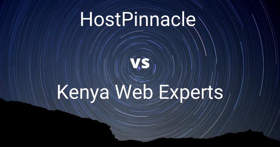Hostpinnacle vs kenya web experts