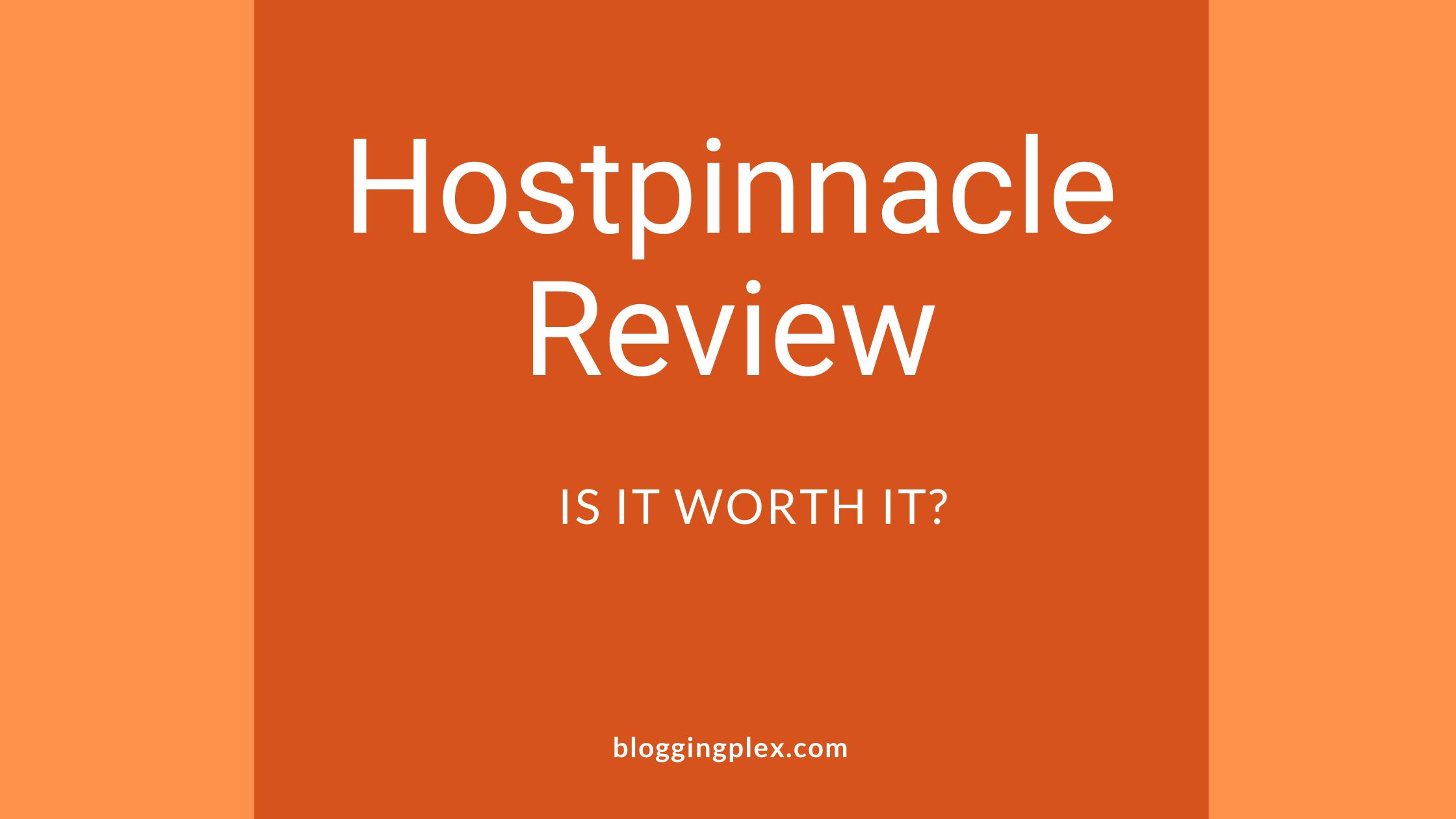 Hostpinnacle review 2021